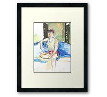 Girl at Oxy Framed Print