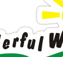 Wanderful world Sticker