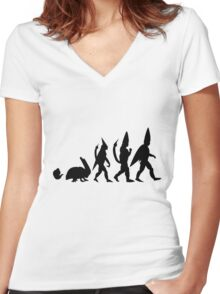 Cell Evolution Women's Fitted V-Neck T-Shirt