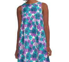 Very nice bright summer floral seamless pattern. A-Line Dress