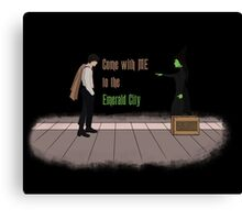 Come with me, to the emerald city Canvas Print