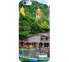 View of Baan Ao Salad port and fishing village on Koh Kood Island, Thailand iPhone Case/Skin
