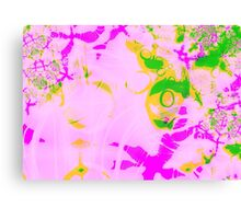 Fractal - psychedelic pastel watercolour Canvas Print