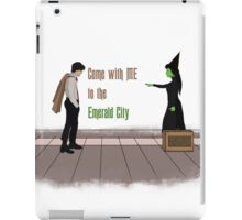 Come with me, to the emerald city iPad Case/Skin