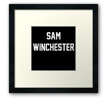 Supernatural Jersey (Sam Winchester) Framed Print
