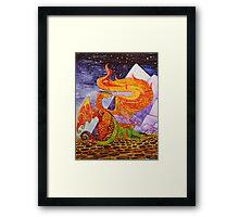 Klimt dragons Framed Print