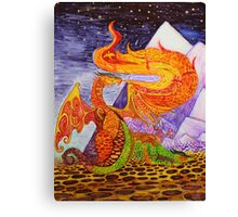 Klimt dragons Canvas Print