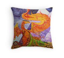 Klimt dragons Throw Pillow