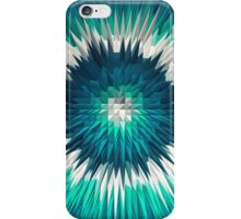 Abstract Blue Explosion iPhone Case/Skin