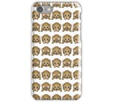 Monkey Evil Faces Emoji Collage iPhone Case/Skin