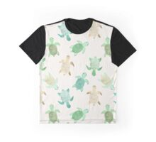 Gilded Jade & Mint Turtles Graphic T-Shirt