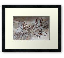 medieval dragons Framed Print