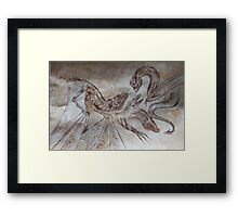 medieval dragons Framed Print