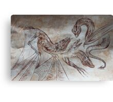 medieval dragons Canvas Print