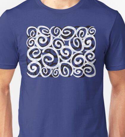 Black White Grey SPIRALS design Unisex T-Shirt