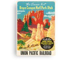 Bruce Canyon Utah Vintage Travel Poster Canvas Print