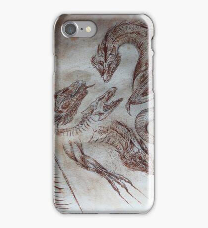 medieval dragons iPhone Case/Skin