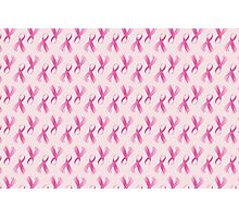 Pink Breast Cancer Ribbon, Breast Cancer Support Photographic Print