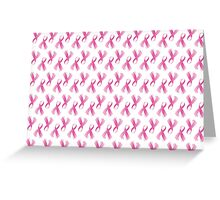 Pink Breast Cancer Ribbon, Breast Cancer Support Greeting Card