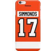 Philadelphia Flyers Wayne Simmonds Jersey Back Phone Case iPhone Case/Skin
