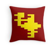 Yellow Joust Throw Pillow