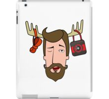 Hipster head iPad Case/Skin