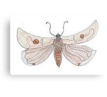 The Endangered Austyn Teal Moth (one-line #123) Metal Print