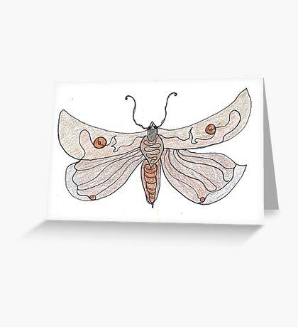 The Endangered Austyn Teal Moth (one-line #123) Greeting Card