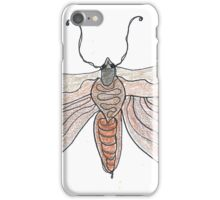 The Endangered Austyn Teal Moth (one-line #123) iPhone Case/Skin