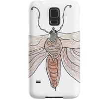 The Endangered Austyn Teal Moth (one-line #123) Samsung Galaxy Case/Skin