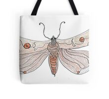 The Endangered Austyn Teal Moth (one-line #123) Tote Bag