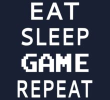 Eat Sleep Game Repeat Kids Tee