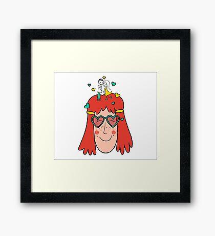 Love in the head Framed Print