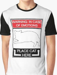 WARNING  In Case of Emotions, Place Cat Here Graphic T-Shirt