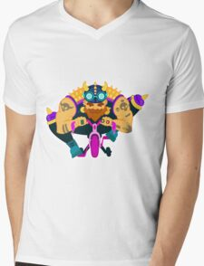 Glamourous biker on tricycle Mens V-Neck T-Shirt