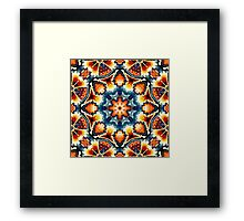 Colorful Concentric Motif Framed Print