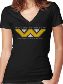 Weyland Yutani - Grunge Women's Fitted V-Neck T-Shirt