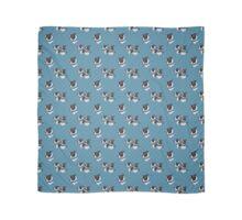 Boston Blues - Fabric design (Boston Terrier) Scarf