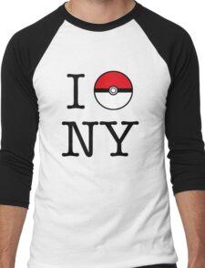 I Poke NY Men's Baseball ¾ T-Shirt