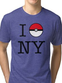 I Poke NY Tri-blend T-Shirt