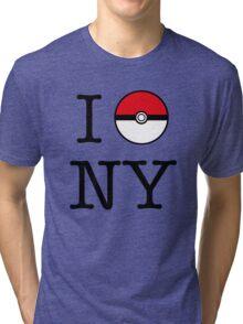 I Poke NY Tri-blend T-Shirt