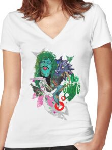 OLD GREGG Women's Fitted V-Neck T-Shirt