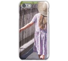 Girl explore the world iPhone Case/Skin