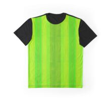 Green Stripes Pattern Graphic T-Shirt