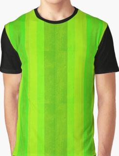 Green Stripes Pattern Graphic T-Shirt
