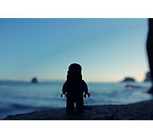 The Legobackpacker taking a break Photographic Print