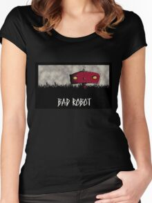 Bad Robot Lost Alcatraz Revolution Film CHARCOAL Women's Fitted Scoop T-Shirt