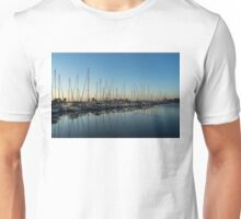 Glossy Early Morning Ripples - Bright Blue Summer at the Marina Unisex T-Shirt