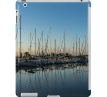 Glossy Early Morning Ripples - Bright Blue Summer at the Marina iPad Case/Skin