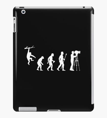 Funny Evolution Of Cameraman  iPad Case/Skin